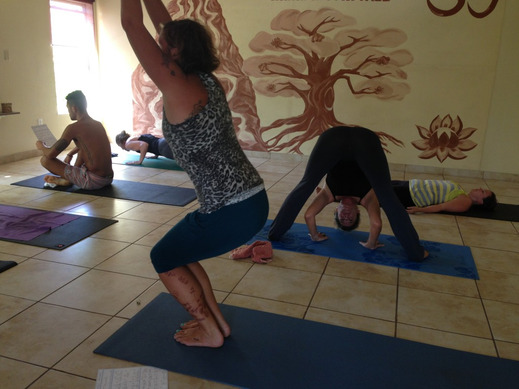 Students in a morning Mysore practice at Yoga Utila, 2013