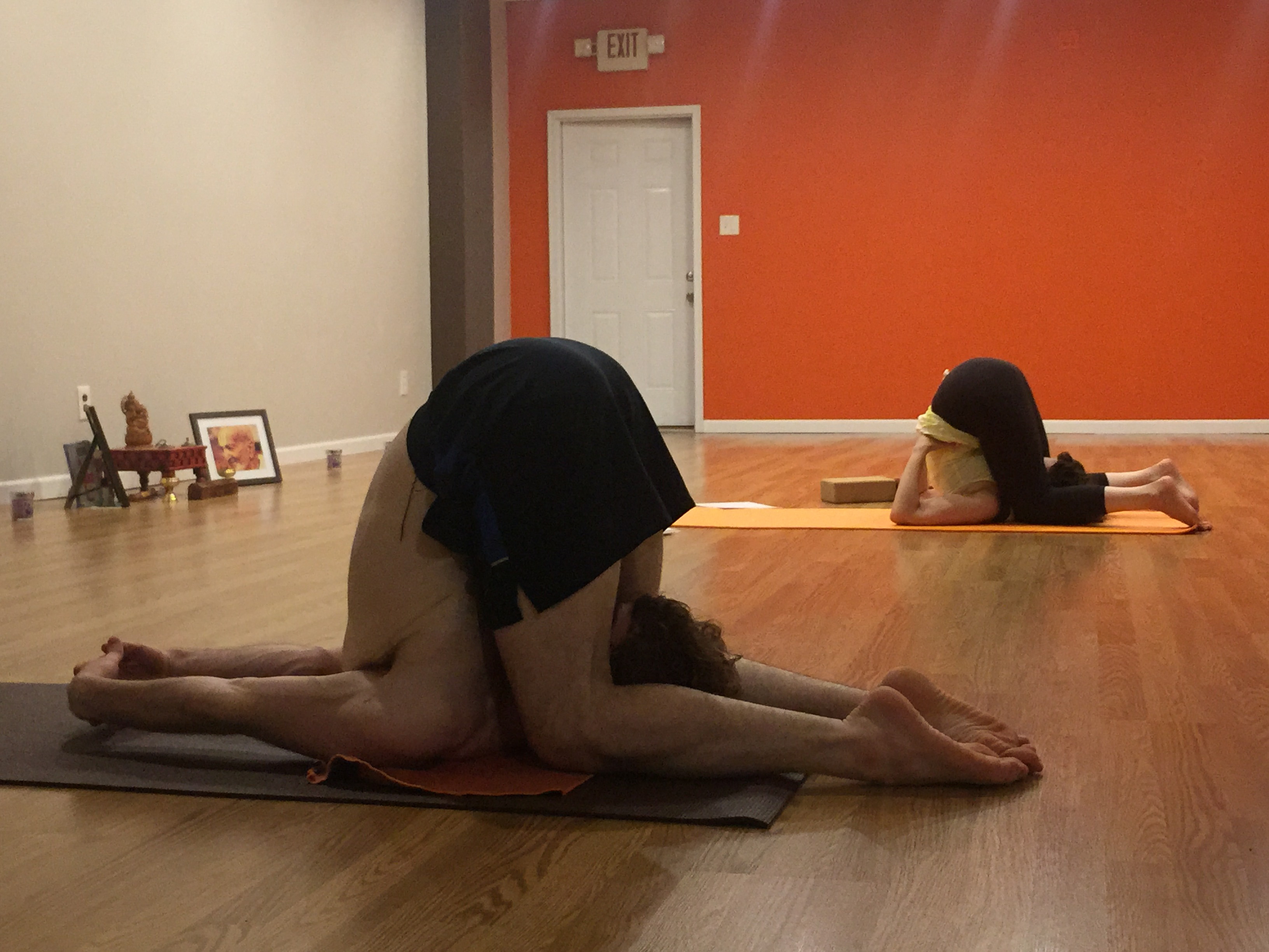 Mom and son practicing together! Yoga is Union :-)